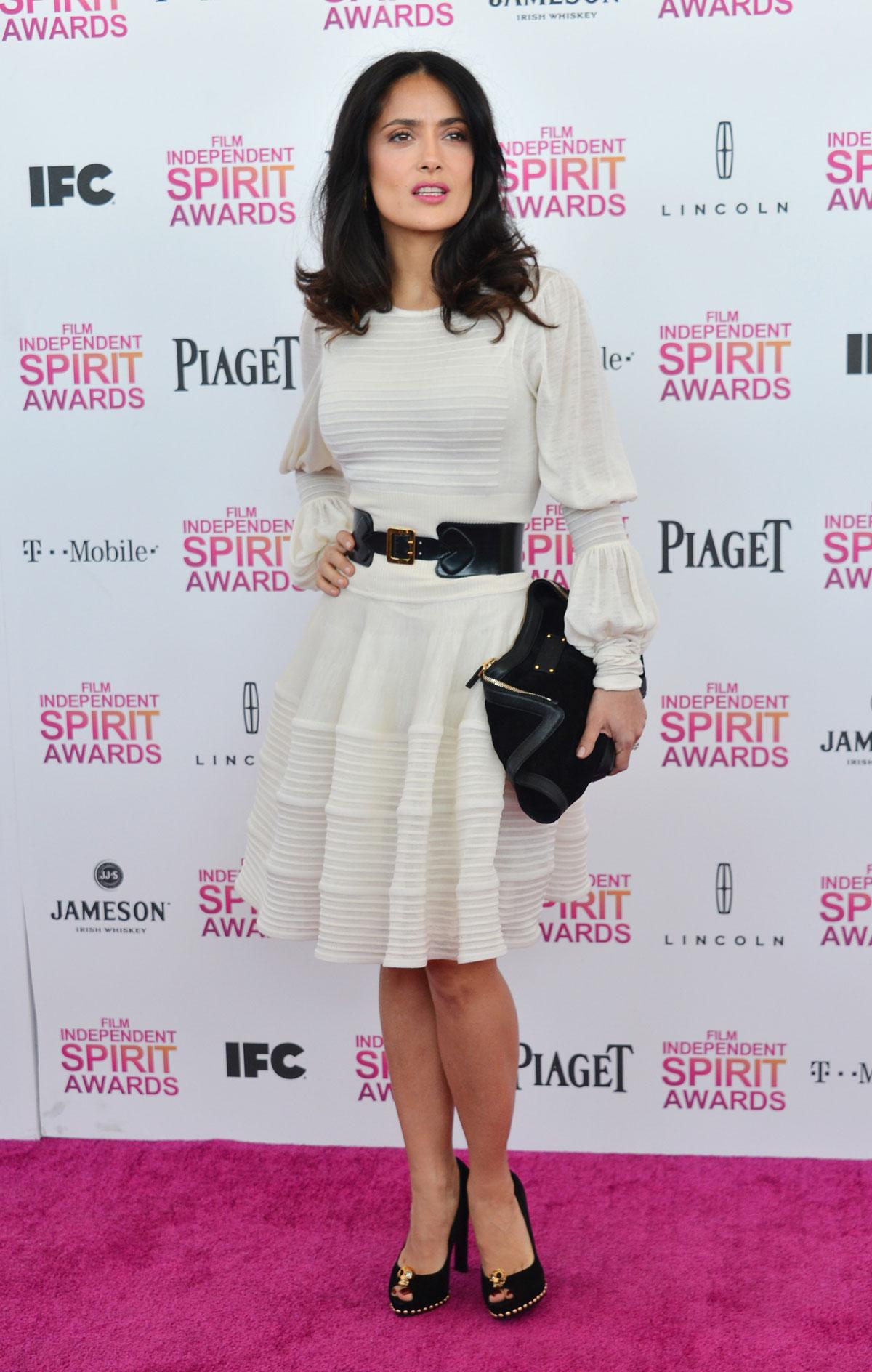 SALMA HAYEK at 2013 Film Independent Spirit Awards in Santa Monica